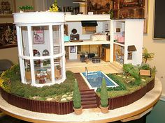 modern dollhouse, wonder if this is what my granddaughter will be playing with!?!