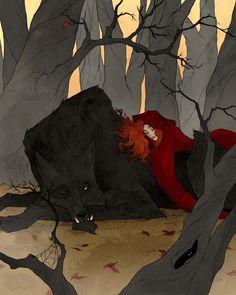 Abigail Larson (@Abigail_Larson) / Twitter Gothic Kunst, Abigail Larson, Gothic Artwork, Fantasy Artwork, Big Bad Wolf, Fantasy Kunst, Witch Art, Creepy Art, Fantastic Art