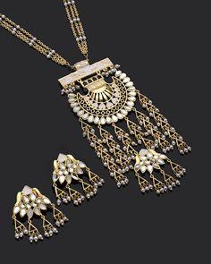 Sheesh Mahal Necklace Set Inspired byTaj #golden #fashion #style #wedding