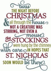 twas night before christmas layered poem silhouette cameo christmas christmas crafts before christmas