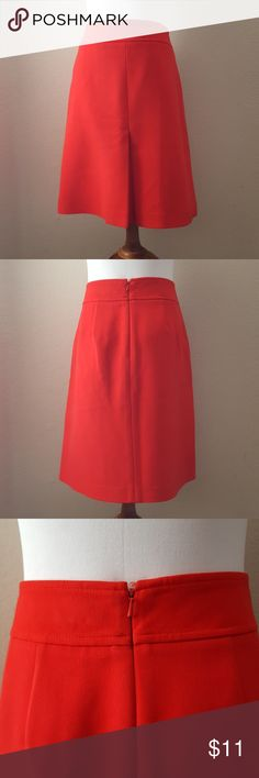 Ann Taylor Loft Skirt Red skirt with pockets. Zipper in back. Excellent condition. LOFT Skirts