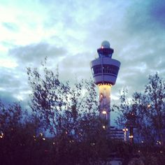 Morning glory Air traffic tower Schiphol