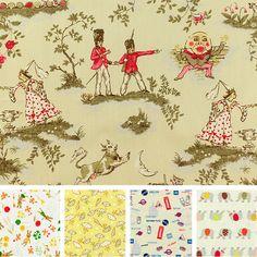 Details About Cream Yellow Fabric Baby Fq Boy Uni Cotton Nursery Rhyme Moon Animal