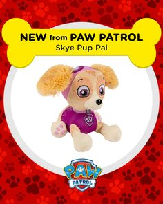 Pup, pup and away! It's an awesome Skye plush from PAW Patrol.