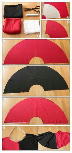 DIY Skirt Harley Quinn Cosplay