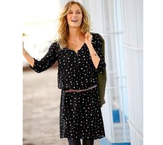 Šaty so zipsom a potlačou   modino.sk #modino_sk #modino_style #style #fashion #blancheporte Dresses With Sleeves, Long Sleeve, Style, Couture, Fashion, Bustle Dress, Woman Clothing, Fashion Ideas, Moda