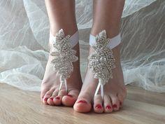 strass pieds nus, cheville mariée, mariage de plage : Autres accessoires par binnur-yildirim
