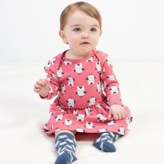 Your little one will look pretty in pink when they don this dress that combines the bodysuit and a dress to give your adventurous little one comfort. How To Look Pretty, Pretty In Pink, Pink Owl, Kite, Organic Cotton, Infant, Bodysuit, Serendipity, Mai