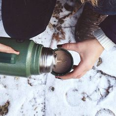 A little hot chocolate to take the chill off? Don't mind if we do. Via All The Trees of the Field on Tumblr.