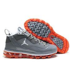 f4089ec92e8e6 Jordan Melo M8+Max09 Gray Orange Men Basketball Shoes  78