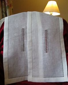Hemstitched curtains in linen by linenartisan on Etsy