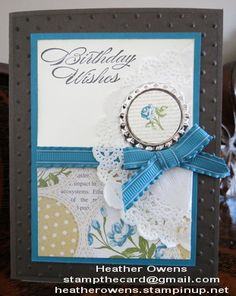 Birthday card showcasing the new Soda Pop Tops and the coordinating stamp set Collage Curios. All from Stampin' Up!