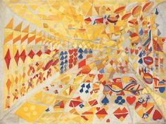 Maria Elena Vieira da Silva, le jeu de cartes on ArtStack Art Of Living, Quilts, Blanket, Portugal, French, Inspiration, Image, Inspired, Portrait