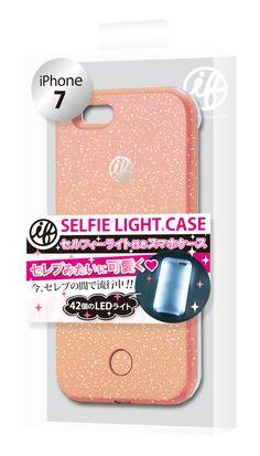 マツコの知らない世界で紹介 セルフィーライト 自撮り スマホ ケース iFlash(Lame Pink)アイフラッシュ for iPhone7