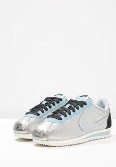 newest 5034c 8bc0e Nike Sportswear CLASSIC CORTEZ LEATHER PREM - Tenisówki i Trampki -  metallic silver black mica blue sail - Zalando.pl