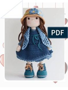 Crochet Bunny Pattern, Crochet Dolls Free Patterns, Love Crochet, Crochet Toys, Knit Crochet, Crochet Circle Vest, Crochet Circles, Crochet Decoration, Amigurumi Doll