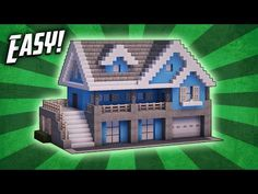 Minecraft: How To Build A Suburban House Tutorial ( - Minecraft Servers Web - MSW - Channel Lego Minecraft, Villa Minecraft, Architecture Minecraft, Plans Minecraft, Construction Minecraft, Modern Minecraft Houses, Minecraft Mansion, Minecraft House Tutorials, Minecraft Houses Blueprints