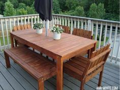 How to build a simple outdoor dining table - Andrea's Notebook