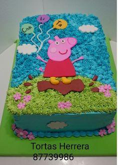 Tortas decoración en crema pepa pig Peppa Pig Happy Birthday, Pig Birthday Cakes, 3rd Birthday, Birthday Parties, Girly Cakes, Paw Patrol Cake, Cake Decorating Videos, Pig Party, Cake Designs