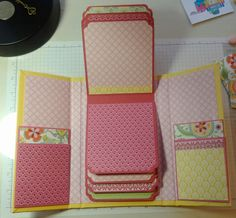 handcrafted ... Mini Album Fun ... bright colors ... flip up pages ... tutorial too ...