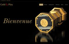 Gold & Play new website by Elitia Communication www.elitia.ch    www.goldandplay.net  #Luxe