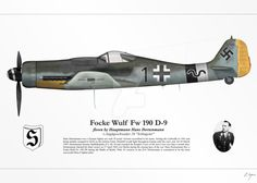 Fw 190 (Hans Dortenmann) by graphicamechanica on DeviantArt Ww2 Aircraft, Fighter Aircraft, Military Aircraft, Luftwaffe, Fighter Pilot, Fighter Jets, Focke Wulf 190, Camouflage, Ww2 History
