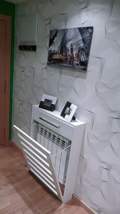 Normous Give Your Dwelling A Fashionable Make Over On A Price range With A Designer Radiator - Consoletableideas Wall Heater Cover, Modern Radiator Cover, Home Radiators, Diy Home Decor, Room Decor, Designer Radiator, Interior Design Living Room, Interior And Exterior, Diy Furniture