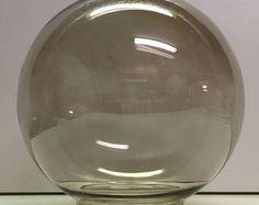Mid Century Smoke Glass Light Globe for Ceiling Fixture, Sconce, or Swag Light Glass Light Globes, Glass Globe, Swag Light, Glass Replacement, Globe Lights, Ceiling Fixtures, Vintage Lighting, Lamp Shades, Lamp Light