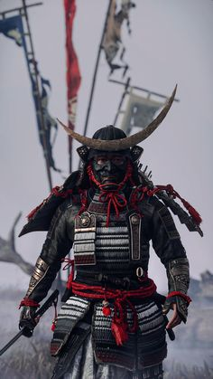 Japanese Art Samurai, Japanese Warrior, Samurai Tattoo, Folklore Japonais, Samurai Concept, Ronin Samurai, Samurai Wallpaper, Ancient Armor, Samurai Artwork