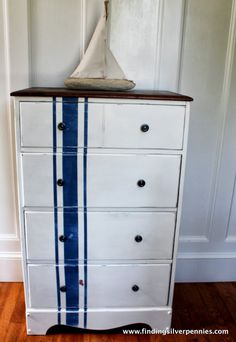 Silver Pennies: Grain Sack Dresser (Before & After)