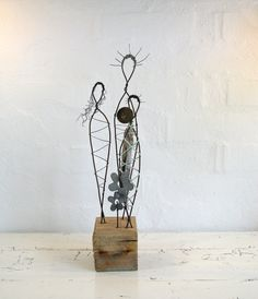 Wire Sculpture Women of the Earth Rustic Female by idestudiet, $105.00