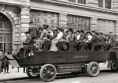 Cari, 1904 New York New York electric tour busses. I had a number of relatives living in nyc at this time, including grandparents.