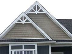 how to decorate a plain front gable on home - Yahoo Image Search Results