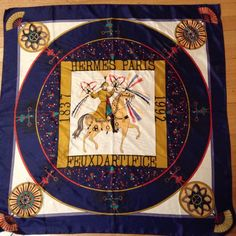 """Vintage Hermes Silk Scarf Multicolor Hermes silk scarf in excellent condition. 34""""x34"""". Hermes Accessories Scarves & Wraps"""