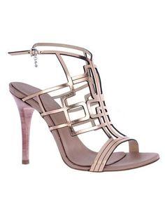 Glittery Sheepskin Strappy Open Toe Ankle Strap Dress Sandals