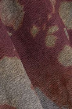Raquel Allegra - Distressed Tie-dyed Cotton-blend Jersey T-shirt - Army green - 3