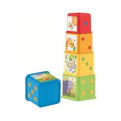 The Fisher Price Stack & Explore Blocks are five blocks for baby that stack up to a tower of fun, or nest one-in-one.