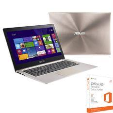 Bộ Laptop ASUS UX303LB-C4092T i5 13.3 inch Touch (Bạc) và Phần mềm office 365 bản quyền