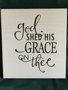 religious wall decor, patriotic signs, wall art, God shed His grace on thee… Church Signs, Church Banners, Silhouette Cameo Projects, Silhouette Design, Chalkboard Art, Chalkboard Designs, Patriotic Decorations, Wall Signs, Diy Signs