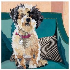 Barbara Yates Beasley – Windows into the Souls of Animals Dog Quilts, Animal Quilts, Landscape Quilts, Thread Painting, Dog Portraits, Applique Quilts, Animal Paintings, Fabric Art, Dog Art