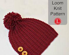 Loom Knit Stitch Pattern The Farrow Rib Stitch with Video | Etsy