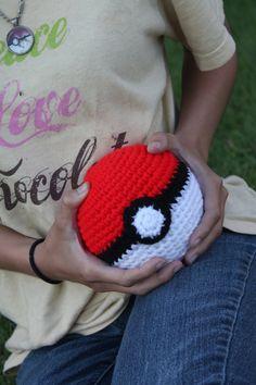Crocheted life size Pokeball  great cosplay prop  by AmigurumiMan