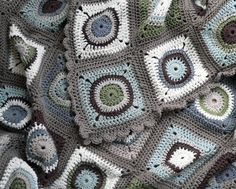 Crochet~ Circle Granny Square - Free Tutorial on Youtube by Teresa