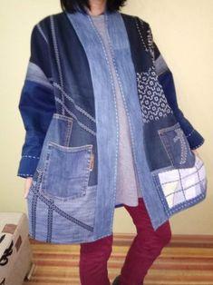 (99) Одноклассники Denim Ideas, Denim Patchwork, Recycling, Recycled Denim, Denim Top, Denim Outfit, Refashion, Jacket Dress, Denim Fashion