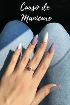 Matte and taupe nails Inspirational women - . - Matte and taupe nails Inspirational ladies - Almond Acrylic Nails, Summer Acrylic Nails, Best Acrylic Nails, Acrylic Nail Designs, Summer Nails, Almond Nail Art, Fall Nails, Short Almond Nails, Neutral Nail Designs