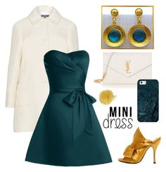 """""""Ivory, Mustard & Teal"""" by evanangel ❤ liked on Polyvore featuring N°21, Yves Saint Laurent, Casetify, Furla and modern"""