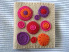 Needlecase 01: felt, embroidery sampler