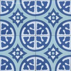 Cement Tile Shop - Encaustic Cement Tile Camryn I Handmade Tiles, Handmade Shop, Cement Crafts, Spanish Tile, Encaustic Tile, Concrete Tiles, Portuguese Tiles, Blue Tiles, Wall And Floor Tiles