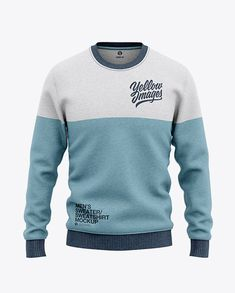 T-Shirt Jersey Images Mens Heather Crew Neck Sweatshirt/Sweater Front View Jersey Mockup PSD File Team T Shirts, Soccer Shirts, Equipement Football, Crew Neck Sweatshirt, Pullover, Shirt Mockup, Box Mockup, Mockup Templates, Full Zip Hoodie