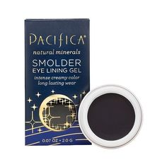 Pacifica Smolder Eye Lining Gel - Midnight ($4.18) ❤ liked on Polyvore featuring beauty products, makeup, eye makeup, black, pacifica, mineral cosmetics, mineral makeup and pacifica cosmetics